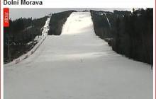 Trasa narciarska koło Zamku w Międzylesiu w Dolni Morava