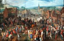1590_Mostaert_Dorfkirmes_anagoria-Village fair by Flemish artist Gillis Mostaert 1590